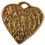 Goud Bedel hart metaal goud DQ 29mm