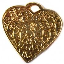 Goud Bedel hart goud DQ 29mm