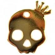 Goud Bedel sugar skull klein metaal goud DQ 17x20mm