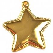 Goud Bedel ster metaal goud DQ 41x45mm
