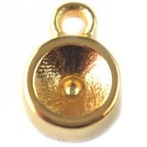 Goud Bedel voor SS29 goud DQ 11x8mm