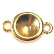 Goud Tussenzetsel voor SS39 metaal goud DQ 20x12mm