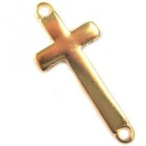 Goud Tussenzetsel kruis goud DQ 16x36mm