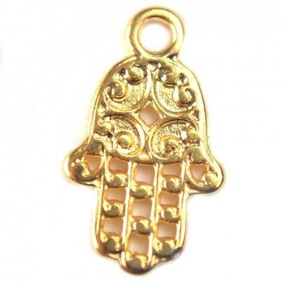 Goud Bedel handje metaal goud DQ 9x15mm