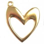 Goud Bedel open hart metaal goud DQ 36x41mm