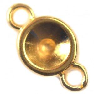 Goud Tussenzetsel voor SS29 goud DQ 14x8mm