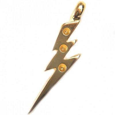 Goud Bedel bliksem metaal goud DQ 45x11mm