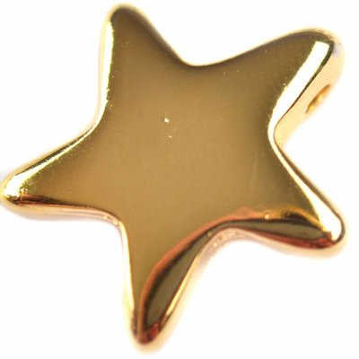 Goud Bedel ster metaal goud DQ 22x23mm