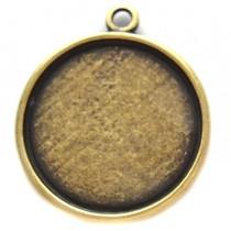 Antiek Goud Brons Cabochon setting 35mm brons DQ