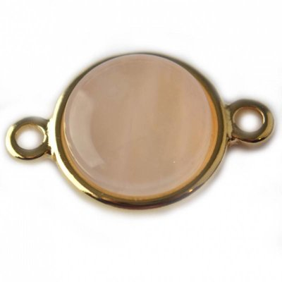 Goud Tussenzetsel setting 12mm cabochon goud DQ