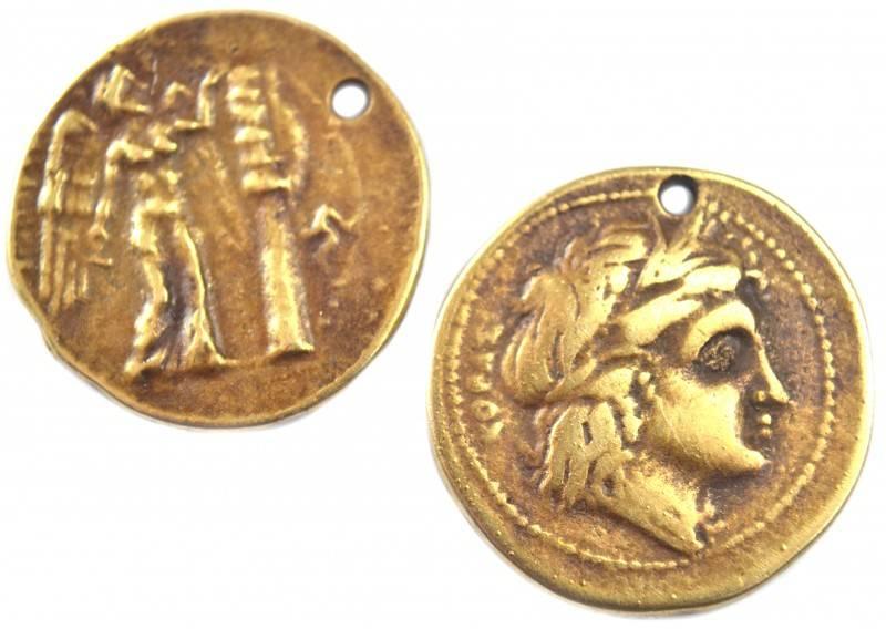 Bedel Griekse Munt Brons Dq 24mm Kraaltjes Van Renate