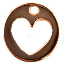 Rosegoud Bedel munt hart metaal roségoud DQ 19x18mm