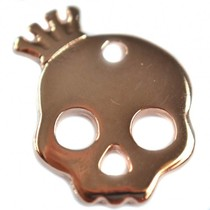 Rosegoud Bedel skull kroon roségoud DQ 17x20mm