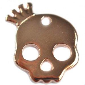 Rosegoud Bedel skull kroon Rosegoud DQ 17x20mm