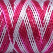 Groen Macramé koord wit/roze/roodroze 0.8mm - 6 meter