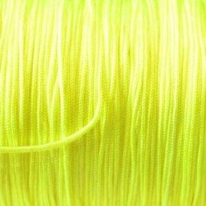Geel Nylon koord fluor geel 0.8mm - 6 meter