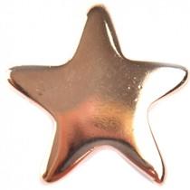 Rosegoud Bedel ster roségoud DQ 22x23mm