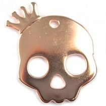Rosegoud Bedel skull met kroon groot roségoud DQ 38mm