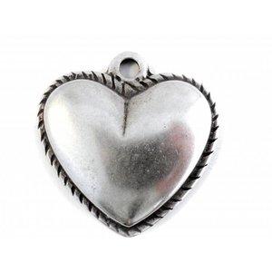 Zilver Bedel hart zilver DQ 47mm