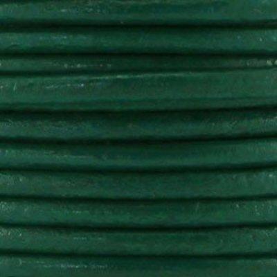 Groen Rond leer donker groen 3mm - per meter