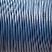 Blauw Leer rond blauw 1mm - per meter