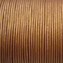 Goud Leer rond goud metallic 1mm - per meter
