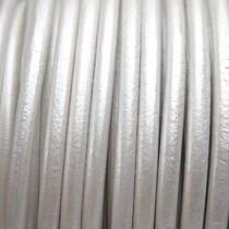 Grijs Leer rond DQ metallic zilver grijs 4.5mm