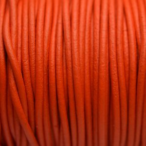 Oranje Leer rond DQ oranje 2mm