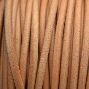 Bruin Leer rond DQ naturel 4.5mm - 50cm