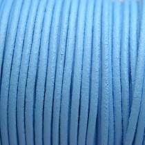 Blauw Leer rond DQ licht blauw 2mm
