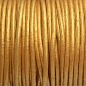 Goud Leer rond DQ metallic goud 2mm