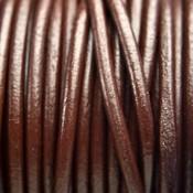 Bruin Leer rond DQ donker bruin 4.5mm