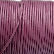 Roze Leer rond donker roze 1mm