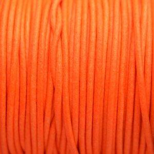Oranje Leer rond DQ fluor oranje 2mm