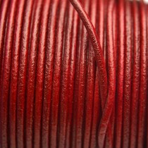 Rood Leer rond DQ bordeaux rood 2mm