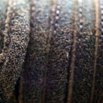 Bruin Druppelvormig Stitched leer geschuurd bruin ±8x5mm