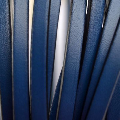 Blauw Plat leer donker blauw 5mm
