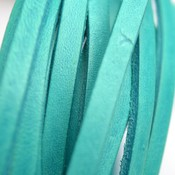 Turquoise Plat leer groen turquoise 5mm