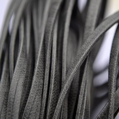 Grijs Plat leer suede grijs 3mm