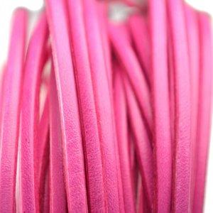 Roze Plat leer roze 3x1mm