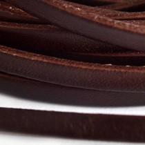 Bruin Plat leer donker bruin 5mm  - prijs per cm