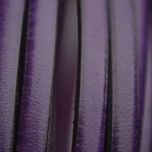 Paars Plat leer paars 5mm - prijs per cm