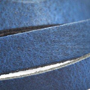 Blauw Plat leer blauw 6mm x 85cm