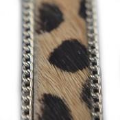 Bruin dalmatiër licht bruin en kettinkjes 14mm
