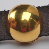Goud Leerschuiver half rond Ø10x2.5mm metaal goud DQ 13mm