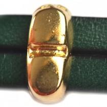 Goud Leerschuiver Ø10x2mm staafje metaal goud DQ 6x13mm