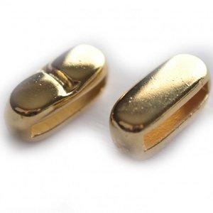 Goud Leerschuiver staafje Ø13x2mm metaal goud DQ 8x16mm