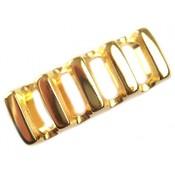 Goud Leerschuiver Ø10x6mm metaal goud DQ 37x14mm