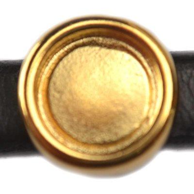 Goud Leerschuiver voor cabochon 12mm Ø10x6mm metaal goud DQ