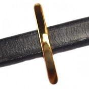 Goud Leerschuiver Ø10x6mm metaal goud DQ 32x10mm